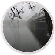 Foggy Morning In Paradise - The Bridge Round Beach Towel
