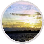Follow The Sun Round Beach Towel