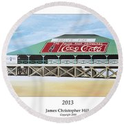 Folly Beach Original Pier Round Beach Towel