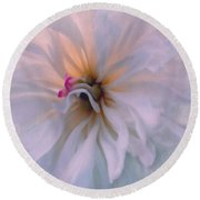 Round Beach Towel featuring the photograph Romance by Jean OKeeffe Macro Abundance Art