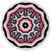 Food Mixer Mandala Round Beach Towel