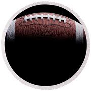Football Painting Round Beach Towel by Jon Neidert