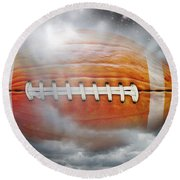 Football Pumpkin Round Beach Towel