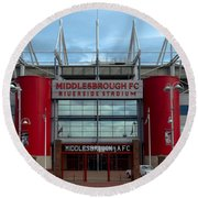 Football Stadium - Middlesbrough Round Beach Towel