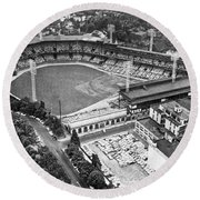 Forbes Field In Pittsburgh Round Beach Towel