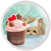 Forbidden Cupcake Round Beach Towel