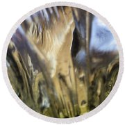 Round Beach Towel featuring the photograph Forbidden Forest by Martin Howard