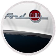 Ford F-100 Round Beach Towel