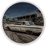 Ford Galaxie 500 4 Round Beach Towel