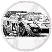 Ford Gt - 40 Round Beach Towel