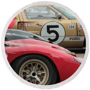 Ford Gt 40's Round Beach Towel