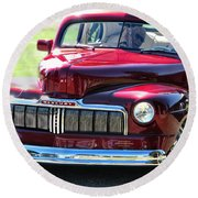 Ford Mercury Eight Round Beach Towel