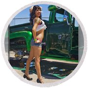 Ford Pick Up_a Round Beach Towel