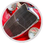 Ford Roadster V8 Round Beach Towel