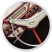 Round Beach Towel featuring the photograph Ford Sunliner by Bradley R Youngberg