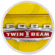 Ford Tough 1966 Truck Round Beach Towel