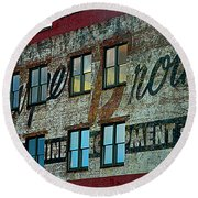 Fords Restaurant In Greenville Sc Round Beach Towel by Kathy Barney