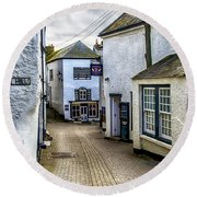 Fore Street Port Isaac Round Beach Towel
