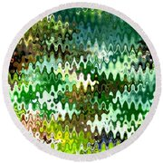 Round Beach Towel featuring the photograph Forest by Anita Lewis