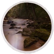 Forest Creek Round Beach Towel