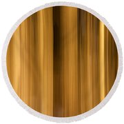 Round Beach Towel featuring the photograph Abstract Forest by Davorin Mance