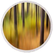 Forest Fire Round Beach Towel by Bill Wakeley