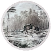 Forest Road, 1836 Round Beach Towel
