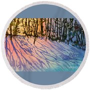 Forest Silhouettes Round Beach Towel