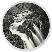 Forest Water Flow Round Beach Towel