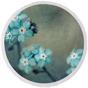 Forget Me Not 01 - S22dt06 Round Beach Towel