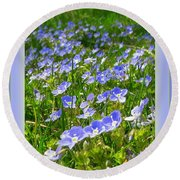 Forget Me Not Round Beach Towel by Leone Lund