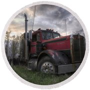 Forgotten Big Rig 2013 Round Beach Towel