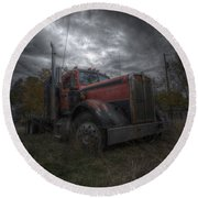 Forgotten Big Rig 2014 Round Beach Towel