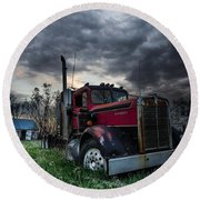 Forgotten Big Rig Round Beach Towel