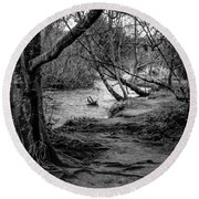 Forgotten Path Round Beach Towel