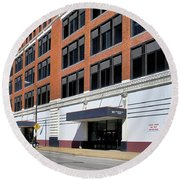 Former Penn Traffic Bldg - Johnstown Pa Round Beach Towel