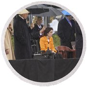 Former Us President Bill Clinton Round Beach Towel by Panoramic Images
