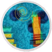 Formes 02b Round Beach Towel by Variance Collections