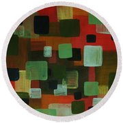 Forms Round Beach Towel by Barbara St Jean