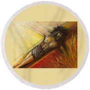 Psalm 22 Forsaken Round Beach Towel