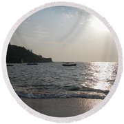 Fort Aguada Beach Round Beach Towel