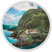 Fort Amherst Newfoundland Round Beach Towel