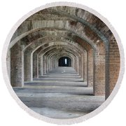 Fort Jefferson Arches Round Beach Towel