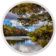 Fort Mountain State Park Round Beach Towel