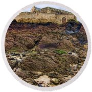 Fort National In Saint Malo Brittany Round Beach Towel