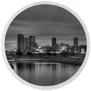 Fort Worth Round Beach Towel