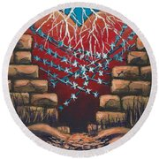 Fortress Around Your Heart Round Beach Towel
