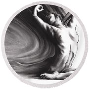 Fount Iv Round Beach Towel
