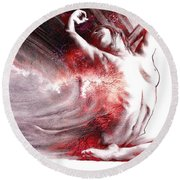 Fount Iv Textured Round Beach Towel