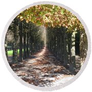 Fountainebleau - Under The Trees Round Beach Towel